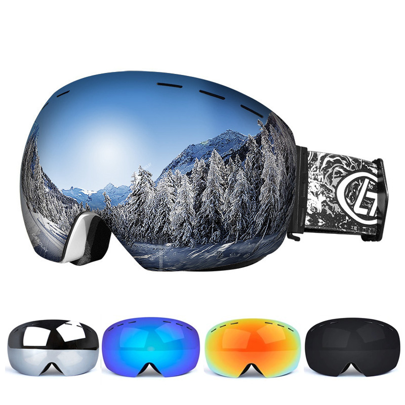 Ski Goggles Double Layers UV Anti-fog Big Ski Mask Glasses Skiing Snow Snowboard Goggles Men Women Ski Eyewear