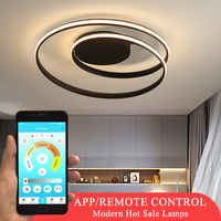 Home Fixtures Modern LED Chandelier Lighting For Bedroom Dining Room Living Room White&Black Frame Ceiling Lustre LED Chandelier