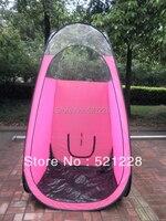 2016 Hot koop roze kleur Spray Tanning wassen douche veranderende kleding strand vissen automatische pop up tent met pvc top