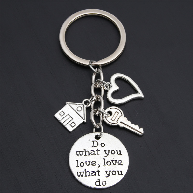1pc Personalized Acceoosry Realtor Keychain Real  Housewarming Gift Sold House Keyring With Key Home Owner Jewelry