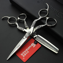 Sharonds 6 Inch Japanese Import 440c Professional Hairdresser Scissors Stainless Steel Cutting Scissors Thinning Scissors