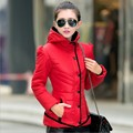2016 New Winter Coat Slim Size Feather Padded Female Short Hooded Lady Korean Winter Clothes Winter Jacket Women Down Coat