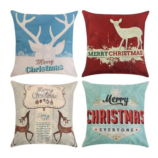 Frohe Weihnachten Muster Kissenbezug Bett Werfen Kissenbezug ...