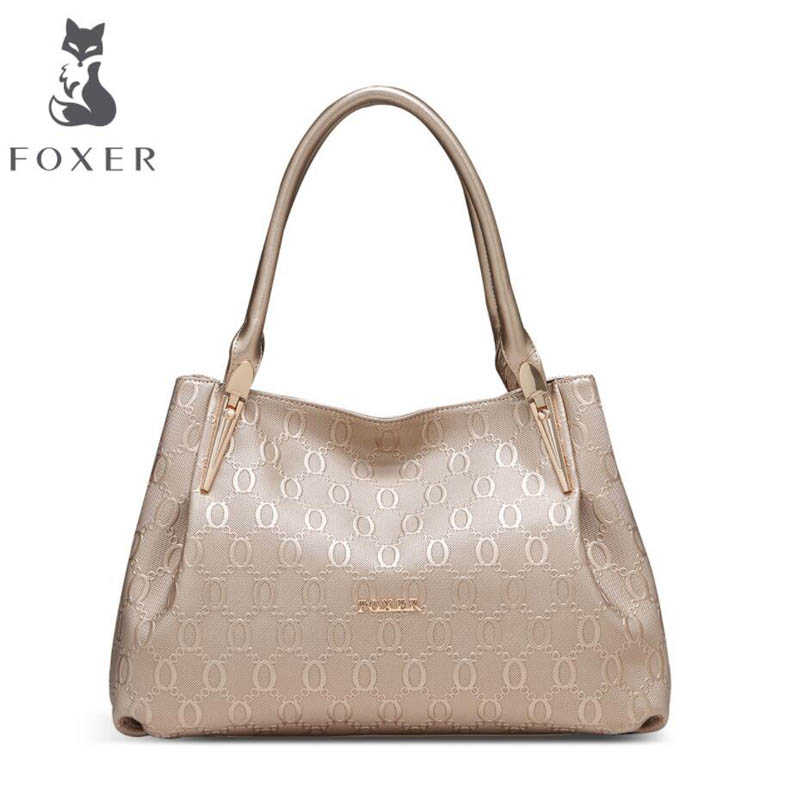 купить FOXER 2018 NEW Women bag Top Quality leather bag famous brands women bag fashion handbags Shoulder Bag tote luxury handbags по цене 5914.42 рублей