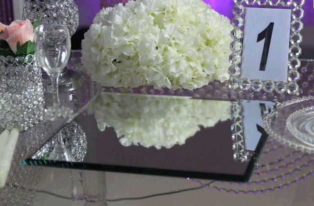 Wholesale 12pcs/lot Square Glass Table Mirrors For Wedding And Party  Centerpieces 40*40cm