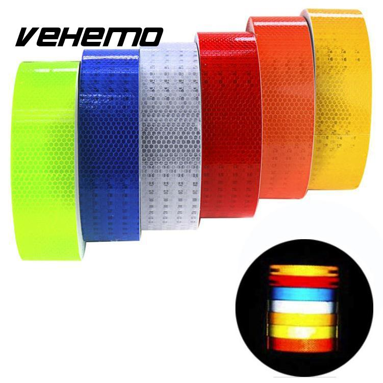Vehemo 3m Reflective Safety Warning Conspicuity Tape Film Sticker For Vehicles Cars Motorcycles Ships Decoration Universal