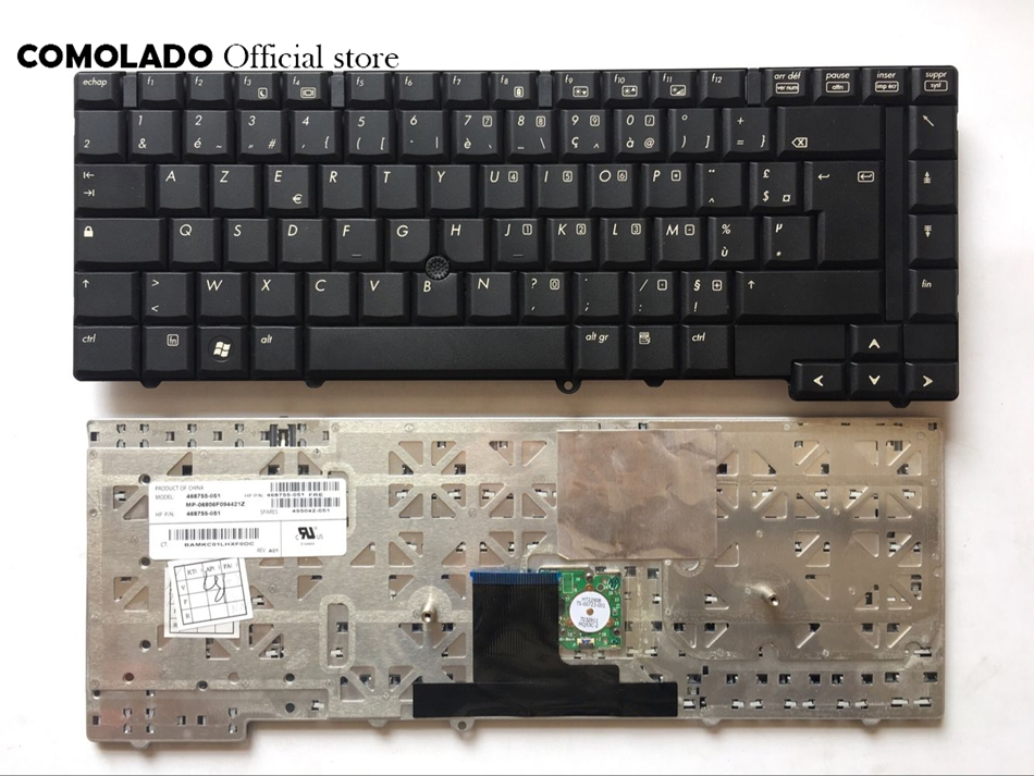 FR French Laptop Keyboard for HP 8530 8530W 8530P black Keyboard FR Layout image