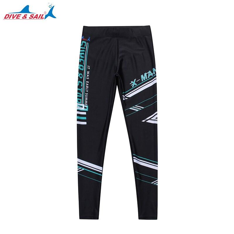 New 2017 Male Summer Beach Swimming Surfing Leggings Men Beach Swimwear Rash Guard Man Slim-fit Sports Pants