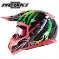 (1 unid y 5 colores) Material de Alta Calidad ABS Marca NENKI MX315 Casco de Motocross Off Road Moto Capacete cascos de Carreras Casco
