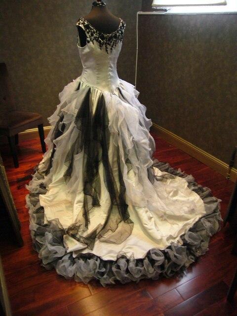 Vintage Viktorianischen Hochzeitskleid Kirche Gothic Braut ...