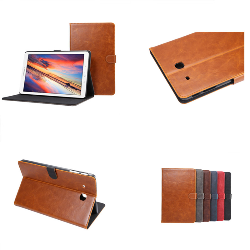 DS Luxury Fashion Crazy Horse pattern With Card slot wallet Bussiness Cover case for samsung galaxy tab E 9.6''  SM T560 T561 crazy horse pattern pu leather cover with card slots for samsung galaxy tab s3 9 7 t820 t825 fashion flip case with stand