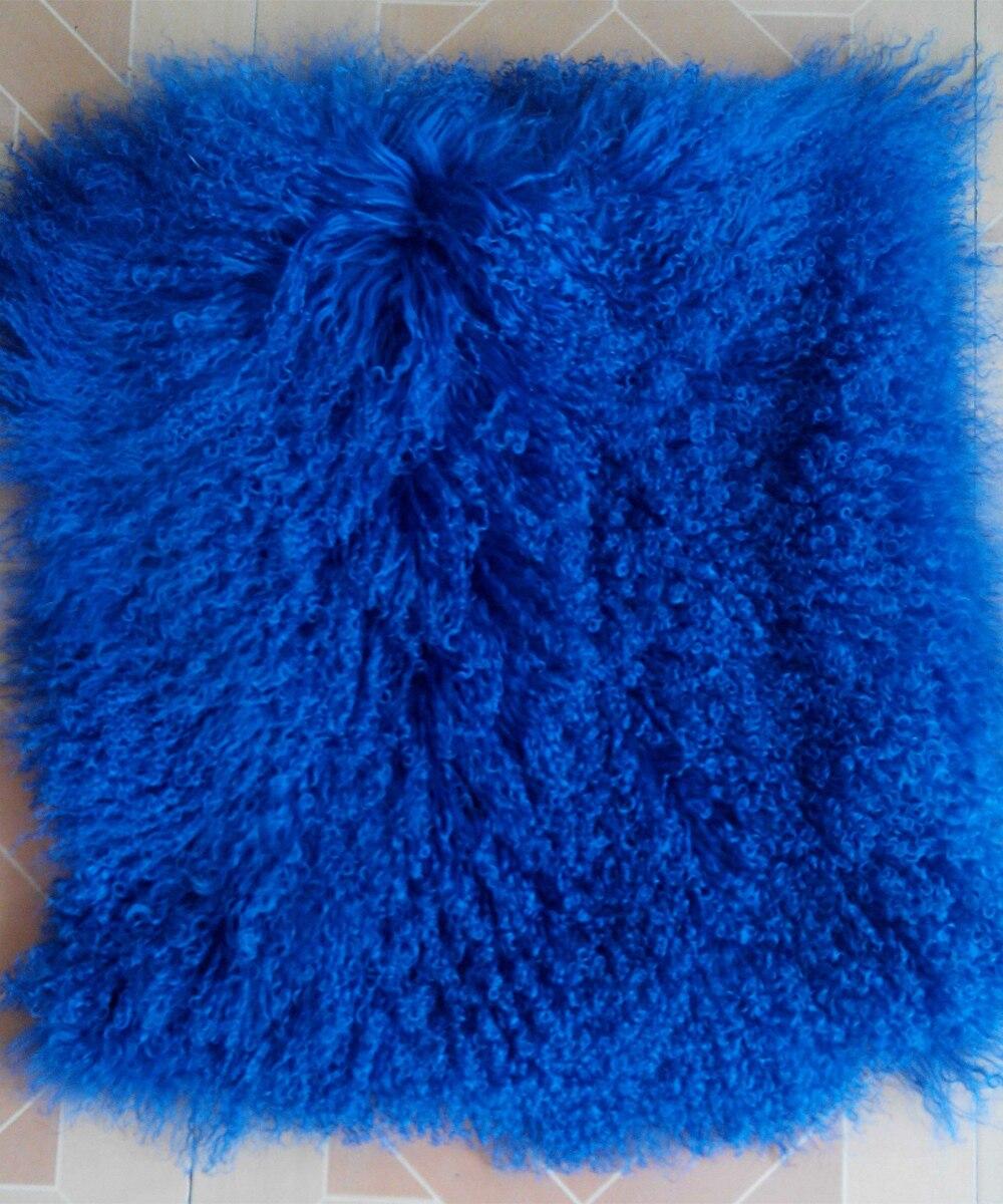 Aliexpress.com : Buy 2018 Mongolian Lamb Fur Rug Blue Real