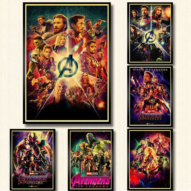 Endgame Poster Paper Wall-Sticker Art-Painting Marvel Avengers Movie Prints Kraft Home