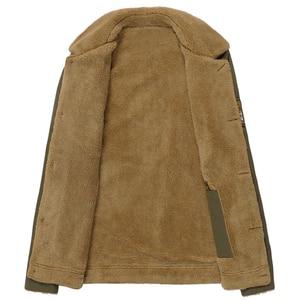 Image 4 - سترات شتوية دافئة من Mountainskin معاطف رجالية من الصوف السميك ياقة من الفرو للرجال ملابس خارجية بنمط عسكري تكتيكي للرجال SA351