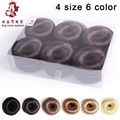 Wholesale 12 Pieces Women Fake Hair Bun Chignon Donut Maker Updo Accessories Headwear Styling Tool Makeover 4 size 6 color