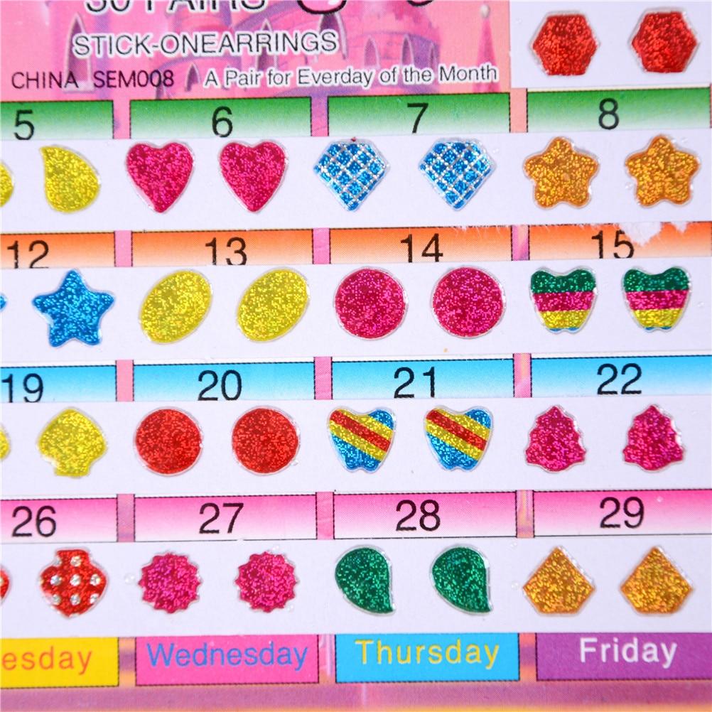 60PCS Diy Sticker Toys Wonderful Children Stickers Head Earring Cartoon Reward Crystal Stickers Toy