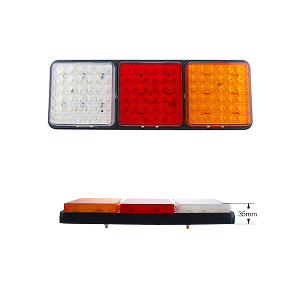 Image 4 - Rectangular Tail Light 2X 24V 108 LED Tail Light Truck Trailer Rear Indicator Stop Reverse Signal Lamp For Campers Buses Vans-in Signal Lamp from Automobiles & Motorcycles