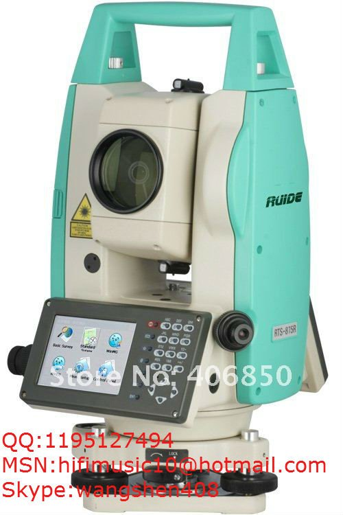 Laser Prism Win CE Total Station, touch screen, RUIDE ,RTS 872R,Reflectorless, Prismless (2011 new model)
