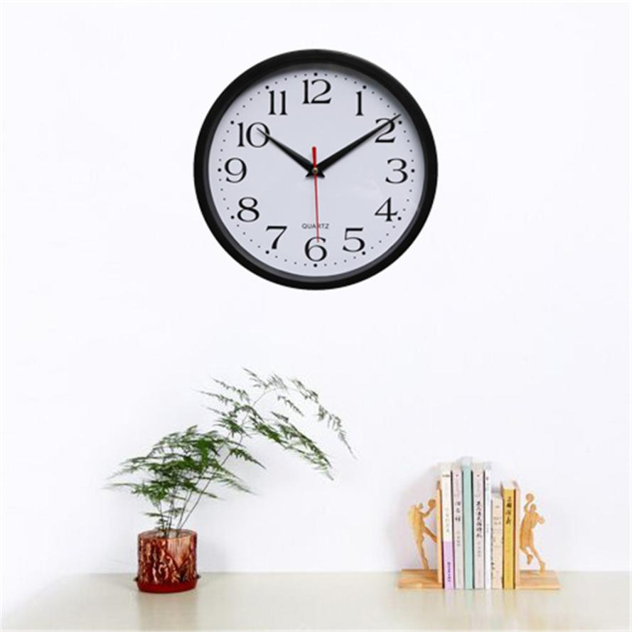 Modern minimalist fashion Silent Sweep Modern Graceful Bell Desk Creative Digital Clock Black drop shipping w16