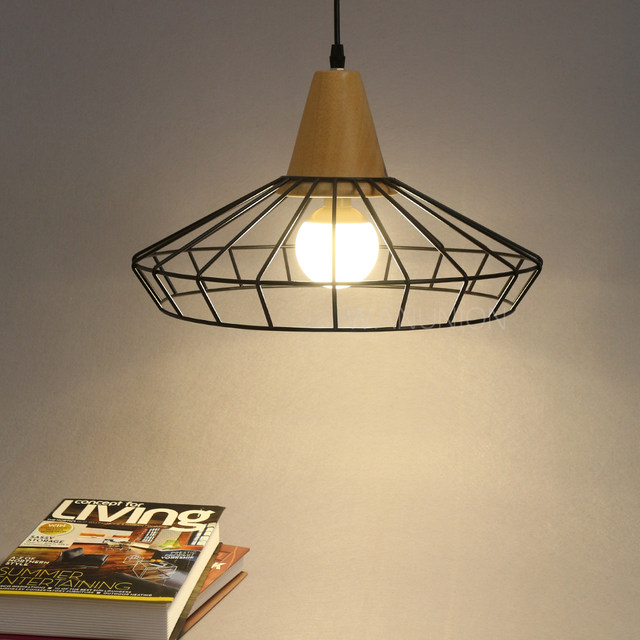 Online shop vintage iron wire bulb cage lampshades hanging lamp vintage iron wire bulb cage lampshades hanging lamp holder guard shade industrial home light decoration keyboard keysfo Images