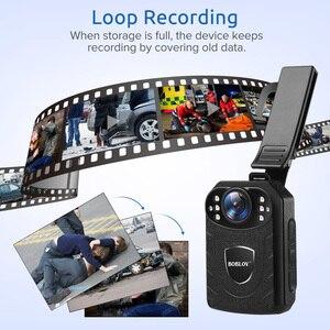 Image 5 - Нательная камера Boblov KJ21 HD 1296P, видеорегистратор, камера безопасности, ИК Ночное Видение, носимые мини видеокамеры, Полицейская камера