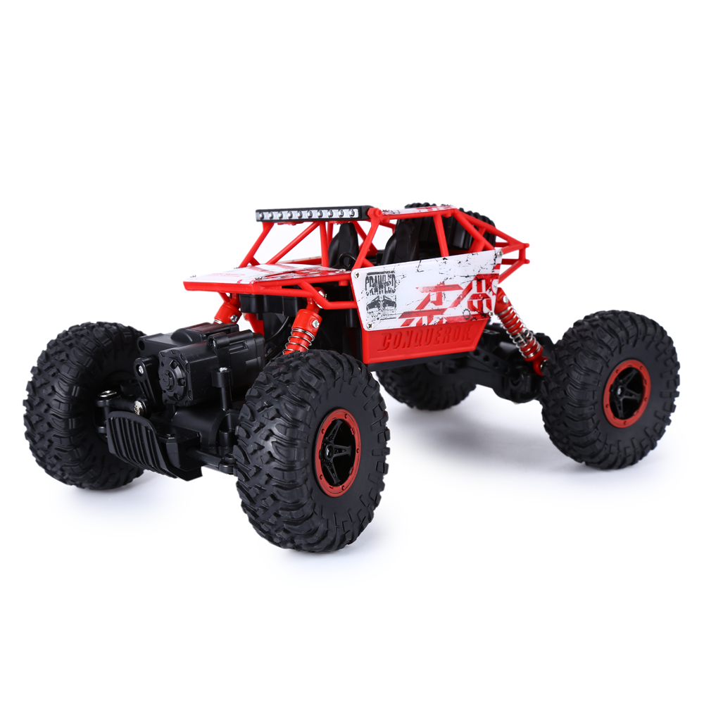 Anti Turnover RC Car 1:18 Scale 4 Wheel Drive Toy 2.4GH Persistent Super Power Wireless Remote Control Trunk Shockproof HB P1801