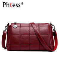 PHTESS Famous Brand Women Messenger Bags Leather Shoulder Handbags Sac Crossbody Bags For Women Luxury Brand