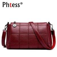 PHTESS Famous Brand Women Messenger Bags Leather Shoulder Handbags Sac Crossbody Bags For Women Luxury Brand
