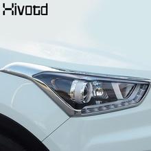 Hivotd For Hyundai Creta ix25 Headlights / Rearlights Cover ABS Chrome Styling Exterior Decoration Auto Products Accessory 2017