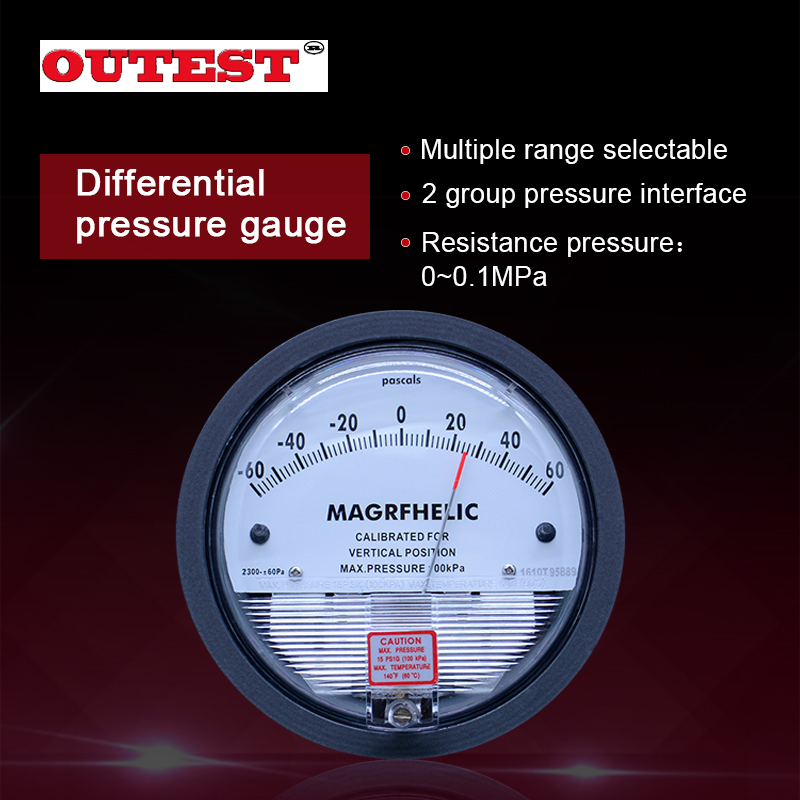 OUTEST TE2000 Differential Pressure Gauge 100kPa Inner/Outer diameter Resistance Pressure Accuracy 0-30PA~0-30KPA For Choice miniature pore water pressure gauge sensor model test small diameter resistance strain gage pressure box