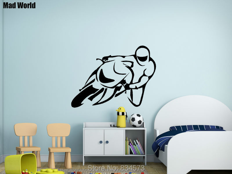 Aliexpress.com : Buy Mad World Sport Motor Bike Road Scrambler Cycle Wall  Art Stickers Wall Decal Home DIY Decoration Removable Decor Wall Stickers  From ... Part 76