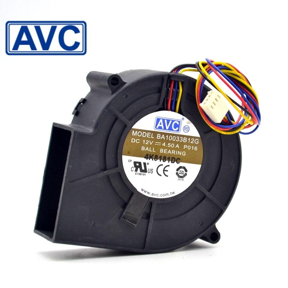 10pcs BBA10033B12G P050 97x97x33mm 12V 4.50A 4-wire Pwm Tempreture Control DC Blower Server Cooling Fan