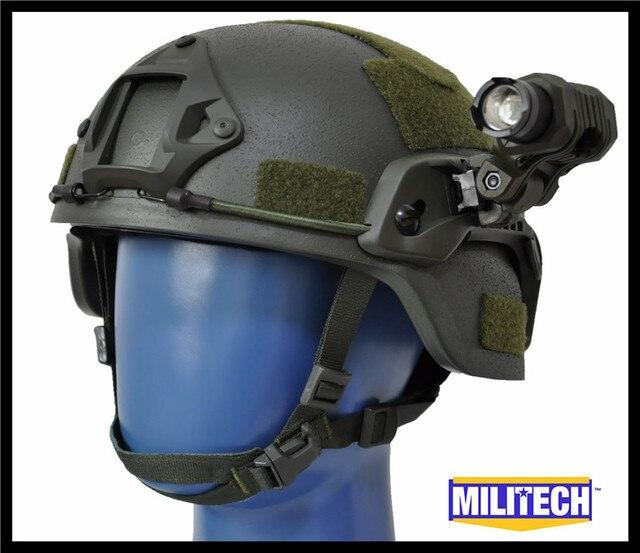 M/LG Oliver Drab MICH NIJ Level IIIA 3A Bulletproof Kevlar Helmet ACH ARC Tactical OCC Dial Liner Aramid Ballistic Helmet Set