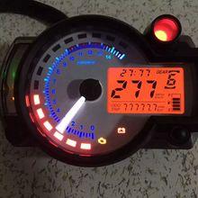 Косо RX2N подобные ЖК-дисплей цифровой мотоциклов пробега Спидометр регулируемая макс 299 км/ч
