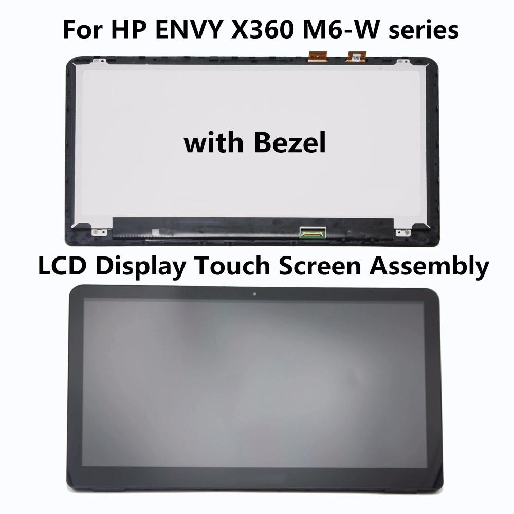 New Laptop LCD Display Touch Screen Panel Digitizer Assembly with Frame For HP ENVY X360 M6-W100 M6-W102DX M6-W105DX M6-W103DX new original lcd replacements for motorola moto g xt1032 xt1033 lcd display touch digitizer screen with frame assembly tools