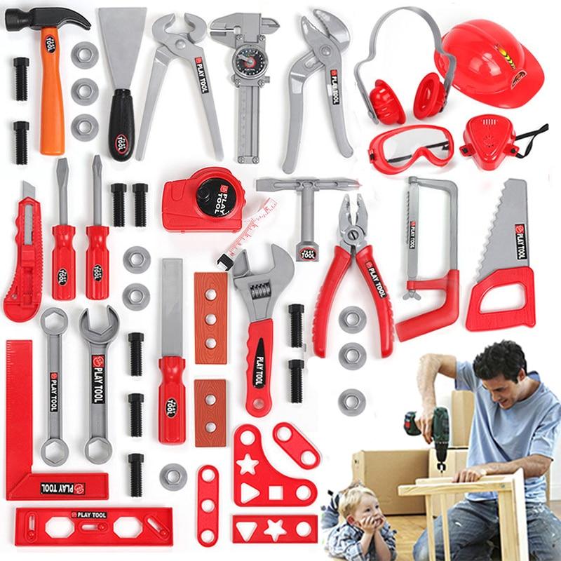 49PCS/Set Garden Tools Toys Pretend Play Repair Tool Toys Environmental Plastic Engineering Maintenance Tools Toys For Children