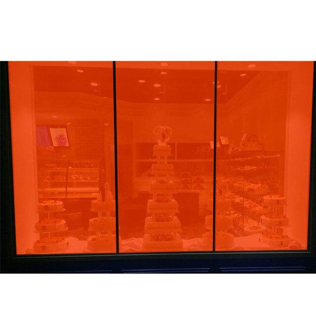 20 Vlt Transparent Orange Colorled Décoration Fenêtre Film Pare