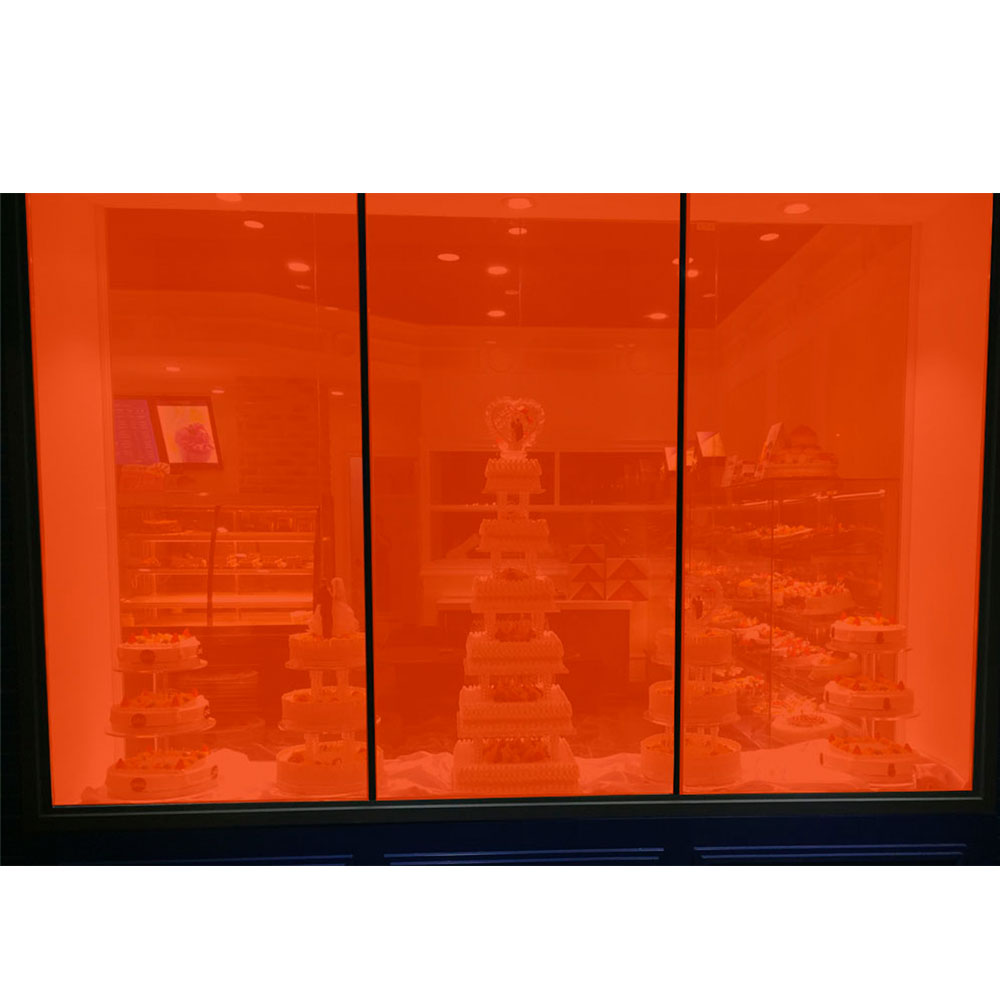 20% VLT Transparent Orange Colorled Dekoration Fenster