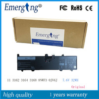 7.6V 32Wh New Original Laptop Battery 0JV6J for Dell Inspiron 11 8NWF3 3000 3162 3164 3168 Series