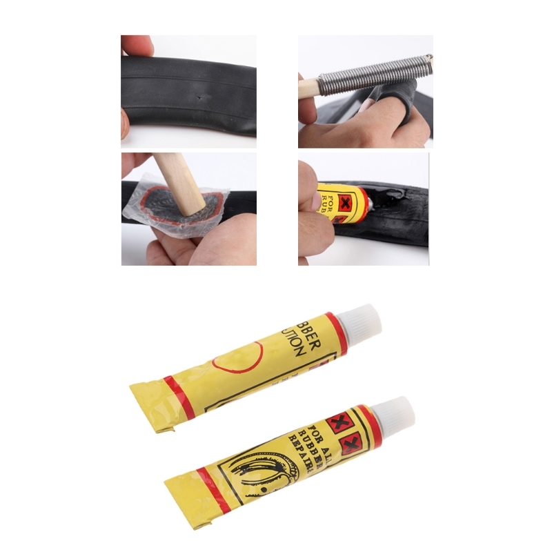 2pcs/lot Bicycle Repair Too Kit Cold Rubber Patch Cycling Glue Tools Tire Repair Glue Bicycle Inner Tube Puncture Repair цена