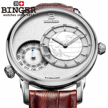 Brand Military Royale Men s Army Style Watches Metal Silver Gold Dial Leather Band Binger GMT