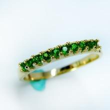 VVS натуральный Россия изумруд 925 пробы серебро зеленый кольца с диопсидом для женщин ювелирные изделия драгоценный камень подарок на день Святого Валентина Вечерние