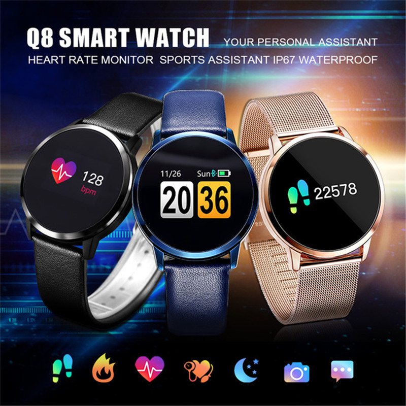 New Screen Smartwatch Heart Rate Smart Watch Men Women IP67 Waterproof Sport Fitness Wearable Devices Electronics dm78 waterproof smart watch bluetooth touch screen clock fitness bracelet heart rate fitness tracker for men wearable devices