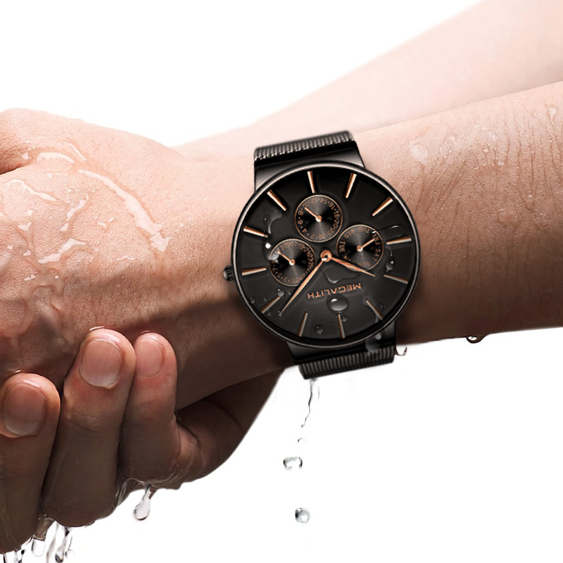 Männer Mesh Kaufen Megalith Armband Schwarz Strap Günstig Uhr Stahl oWxrCBed