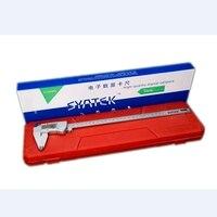 Ip54 à prova dwaterproof água de aço inoxidável lcd 300mm digital industrial vernier pinças resolução 0.01mm pinça ferramenta medição com caixa