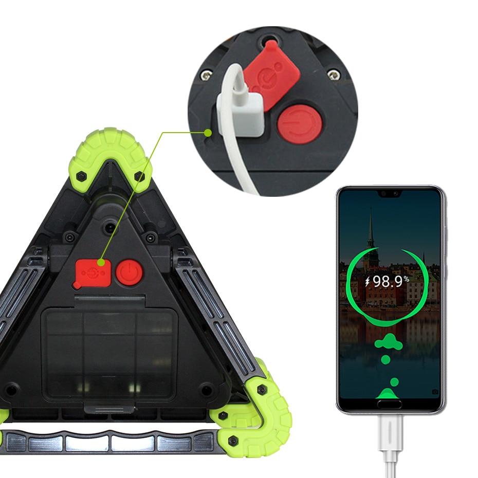 20W LED Portable Spotlight Lantern Searchlight USB Rechargeable Handheld 18650 Battery Security Flood Light LED Work Lamp