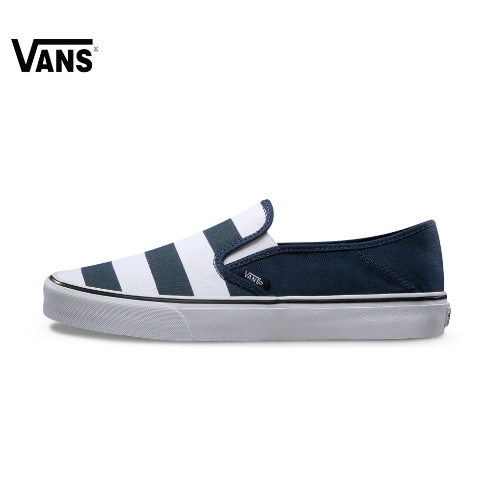 Original Vans New Arrival Summer Black and Blue Color Low-Top Men's Skateboarding Shoes Sport Shoes Sneakers free shipping
