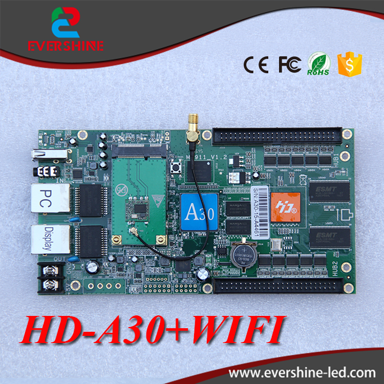 все цены на  HD video controller asynchronous control card HD a30 used for full color big display screen  онлайн
