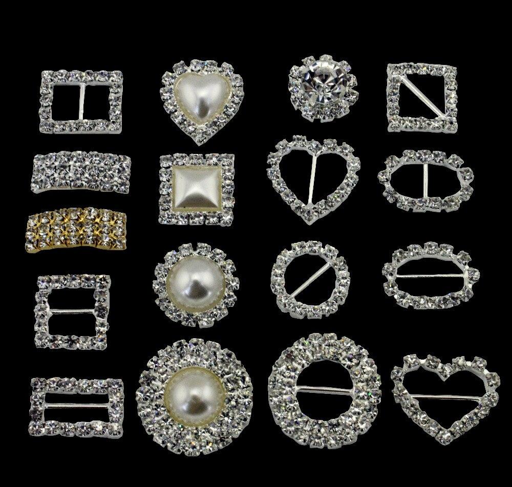 Buckle diamond 70pcs ellipse rhinestone ribbon buckle for Aana decoration wedding accessories