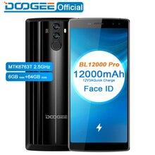 DOOGEE BL12000 Pro 12000mAh Smartphone MTK6763T 6.0''18:9 FHD+ 2.5GHz 6GB